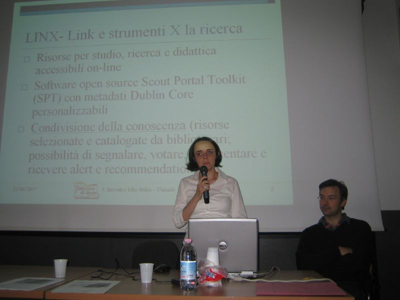 Verga and Bianchini during the presentation